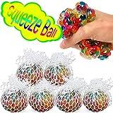 COM-FOUR® 6X Anti Stress Ball per Bambini e Adulti, spremere la Palla in Rete Senza Cappuccio Protettivo (06 Pezzi - Ø 6 cm V2)