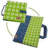 Geschenk Set Bücher-Tasche für Pixi Bücher + Maltasche Stiftemappe Stern grün ❤ SmukkeDesign NEU