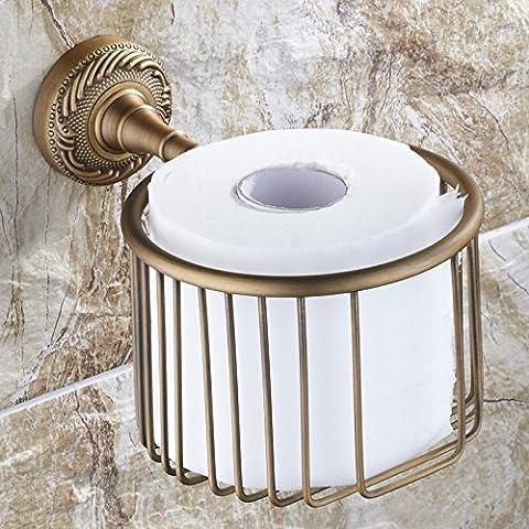 SBWYLT-Antigua papelera papel toalla estante baño estante de la toalla rack cosméticos productos multifunción de cobre