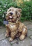 Taille de la pierre pour chien Puppy cadeau décoration jardin ou maison–Statue/Sculpture 32x30 Caramel Biscuit
