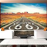 murando® Fototapete 250x175 cm - Vlies Tapete - Moderne Wanddeko - Design Tapete - Wandtapete - Wand Dekoration - Route 66 10110903-44