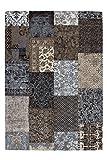 Lalee Teppich Wohnzimmer Carpet Modernes Design Patchwork Rug Symphony 160 Braun Chenille 80x150cm   Teppiche günstig Online kaufen