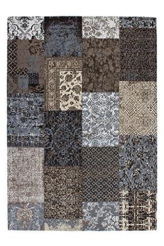 Teppich Wohnzimmer Carpet modernes Design Patchwork RUG Symphony 160 Braun Chenille 120x170cm | Teppiche günstig online