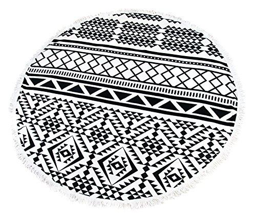 Riesen Auswahl - Sarong Pareo Wickelrock Rund Strandtuch im Mandala Design Handtuch Strandlaken Roundie Duschtuch Badetuch Modell H