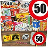 DDR Paket XXL | Süßigkeiten Box | Zahl 50 | Geburtstags Geschenk Mutter