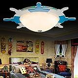 Creative Mediterranean Lighting Children Pirate Remo–Lámpara LED de techo