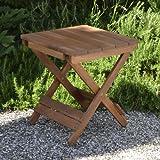 Plant Theatre Adirondack Table basse de jardin pliable en bois exotique de qualité