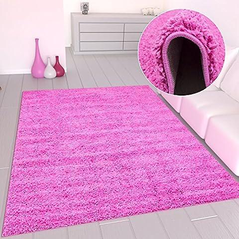 Primo Shaggy Tappeto Fucsia Pelo Lungo Tappeti Moderni per Soggiorno Camera Letto - VIMODA - rosa, 160x220 cm