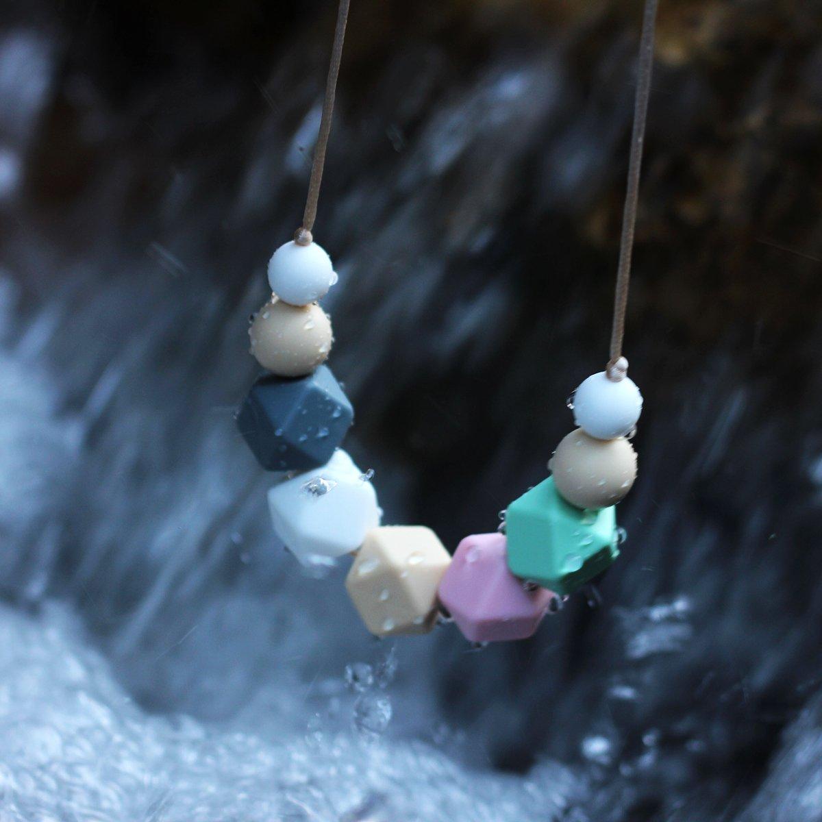 KEFU Collar Mordedor de Lactancia para Beb/é Mordedor sin BPA Silicona Antibi/ótico C/ómodo use collar Hermosa Moda