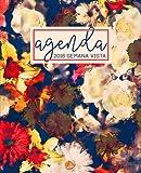 Agenda: 2018 Agenda semana vista español : 190 x 235 mm, 160 g/m² : Estampado de flores abstracto en azul marino, marfil y rojo: Volume 6 (Calendarios, agendas y organizadores personales)