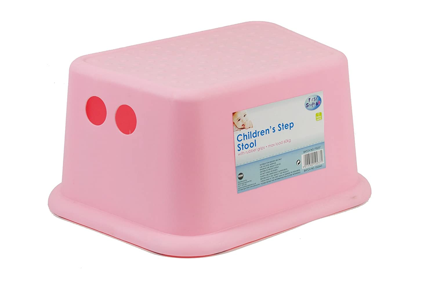 Kids Toddler Step Stool With Rubber Grips Sink Basin Potty Training   PINK:  Amazon.co.uk: Baby