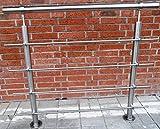 Sara Edelstahl Geländer Handlauf Treppengeländer Balkongeländer V2A Treppe Bausatz
