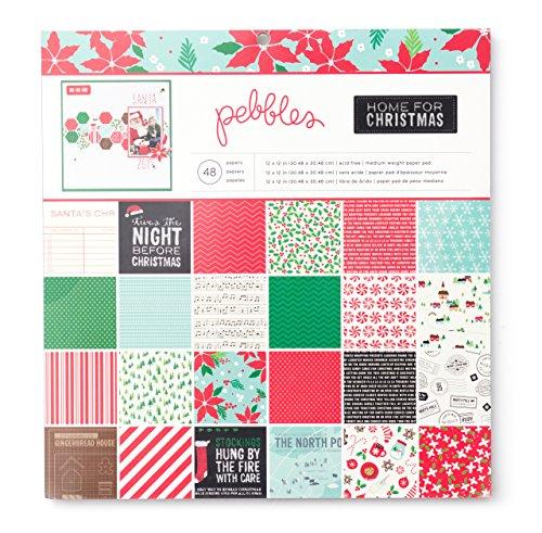 American Crafts Pebbles Papier Pad 12Zoll x 12Zoll 48/pkg-Home für Weihnachten -