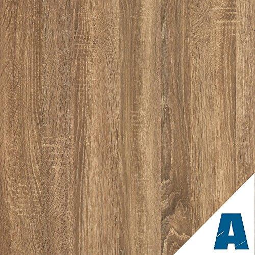 Artesive WD-057 Rovere Scuro larg. 90 cm AL METRO LINEARE - Pellicola Adesiva in vinile effetto legno per interni per rinnovare mobili, porte e oggetti di casa