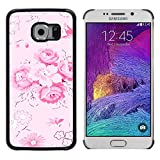 - Pink Floral Ornament Pattern/ Fest Snap On Handy Tasche - Cao - For Samsung Galaxy S6 EDGE
