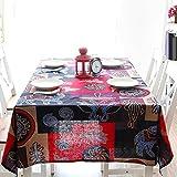 ZXY Tela de mesa a prueba de polvo rectangular, resistente al desgaste, fácil de limpiar, manteles multi-funcionales, paño de decoración interior, mesa de café, mesa, cubierta de escritorio,A,140*200cm