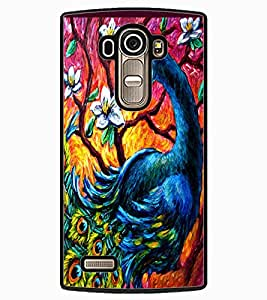ColourCraft Beautiful Peacock Drawing Design Back Case Cover for LG G4