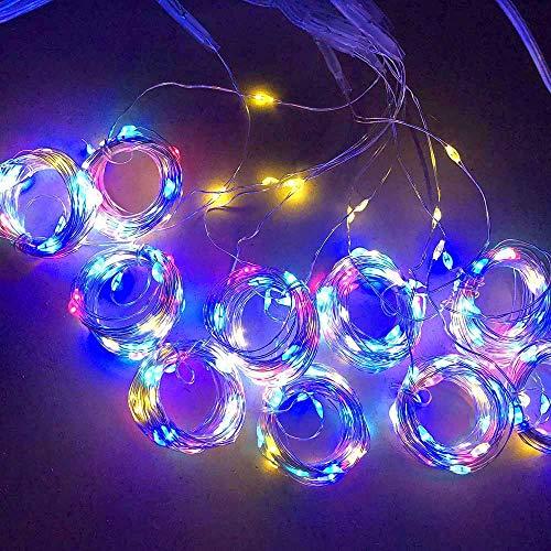 kette,300er USB Lichterkette Draht Wasserdicht mit Schalter Stimmungslichter Lichterkette für Zimmer, Innen, Weihnachten, Kinderzimmer, Außen Party Hochzeit DIY usw ()