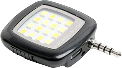 Shopline Universal Portable Mini 16 Led Night Flash Fill Light Rechargeable for Smartphone and Camera Videos Light