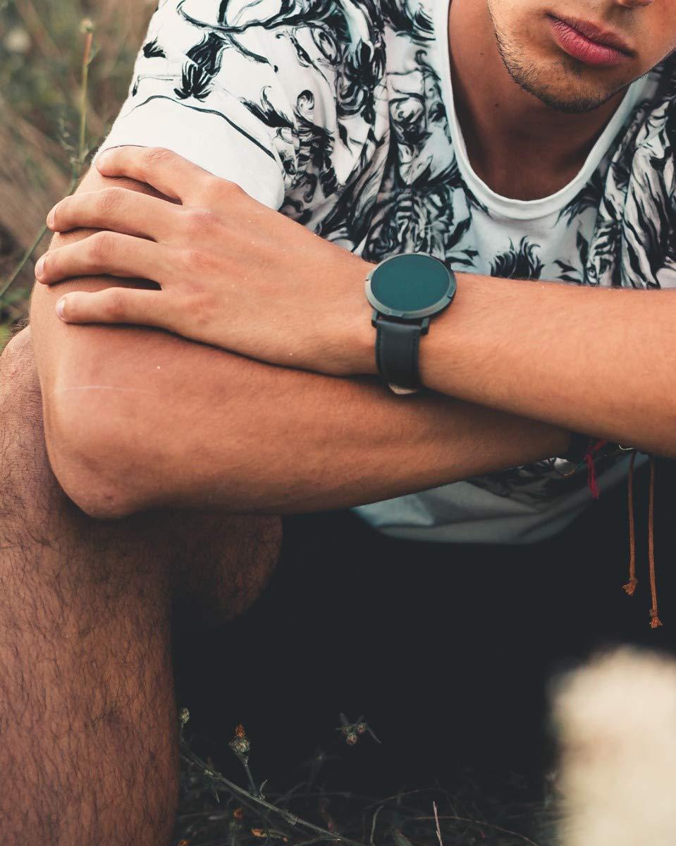 Florence Marlen   Italian Design   Smartwatch Hombre-Mujer FM1R Verona Correa Piel Negra Bluetooth Pantalla táctil Impermeable Cardiofrecuencímetro, iOS y Android, Reloji Inteligente 7