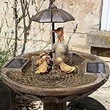 Fontaine De Jardin Solaire Résine Effet Bronze 84cm - Aucun Câble - par Smart Solar