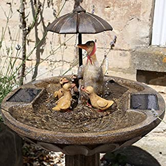 Smart Garden Solar Duck Family Umbrella Fountain 61k gDjF4bL