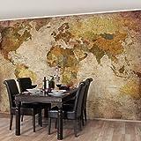 Apalis Vliestapete - Weltkarte - Fototapete Breit | Vlies Tapete Wandtapete Wandbild Foto 3D Fototapete für Schlafzimmer Wohnzimmer Küche | Größe HxB:225x336cm