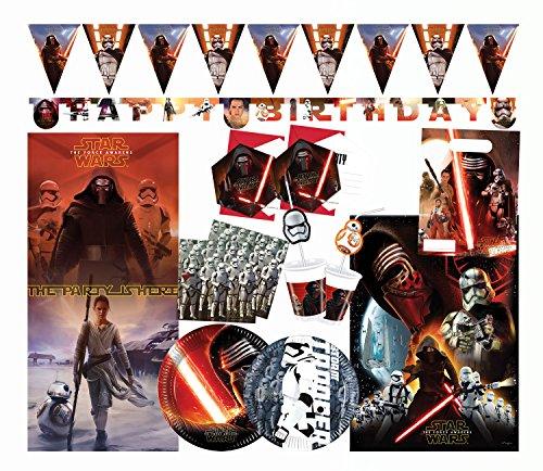 Procos 10110287B Kinderpartyset Star Wars Episode 7, Größe XL, 66 teilig, ()