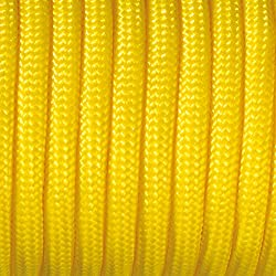 Paracord - Rollo de cordaje (2 mm x 50 m), color amarillo