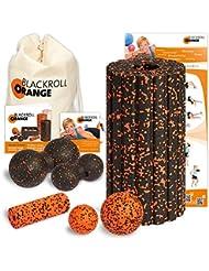 Blackroll Orange (Das Original) DIE Selbstmassagerolle - Komplett-Set (Groove STANDARD) mit miniBAG, Übungs-DVD, -Poster und -Booklet