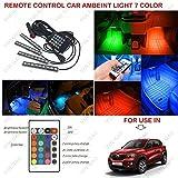 #7: Volga Remote Control Ambient Lighting Atmosphere Car Interior Led Light For Renault Kwid