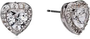 Orecchini a perno in argento Sterling con pietra portafortuna e zaffiri bianchi