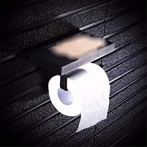 STAZSX Bad europäischen Stil Kupfer Bad WC Fach Halter Papier Halter Toilettenpapier Rollenhalter, Mobile Halter