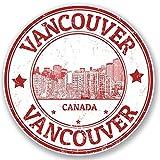 2x Vancouver Kanada Vinyl Aufkleber Aufkleber Laptop Reise Gepäck Auto Ipad Schild Fun # 4321 - 10cm/100mm Wide
