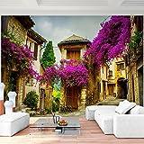 Fototapete Toscana Italien 352 x 250 cm Vlies Wand Tapete Wohnzimmer Schlafzimmer Büro Flur Dekoration Wandbilder XXL Moderne Wanddeko - 100% MADE IN GERMANY - Stadt Violett Runa Tapeten 9039011b