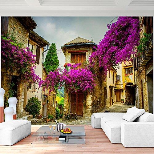 ... Fototapete Lila Blumen 396 X 280 Cm Vlies Wand Tapete Wohnzimmer  Schlafzimmer Büro Flur Dekoration Wandbilder ...