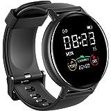 IOWODO Smartwatch Hombre Mujer con Oxímetro(SpO2), Reloj Inteligente Impermeable 5ATM con Notificación de Mensajes Esfera Per