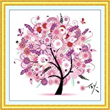 Sinbury reg; DIY Cross Stitch Kit Embroidery Kits Autumn Season Home Decor Colorful Tree