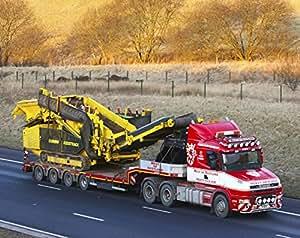 Tapis de souris avec un Scania T Cab de Ouest de l'Écosse Heavy Haulage