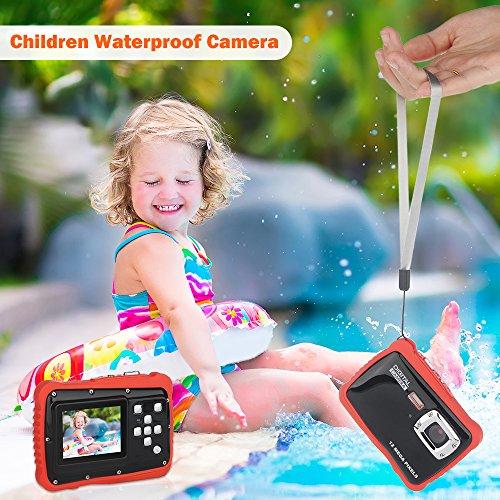 DIDseth Digitalkamera | Minikamera mit 12MP HD 5 MP CMOS Sensor, Kinderkamera HD 720p Videofunktion - Wasserdicht bis 3 Meter Orange