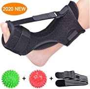 Plantar Fasciitis Night Splint Foot Drop Orthotic Brace, Adjustable Elastic Dorsal Night Splint for Plantar Fasciitis, Achil