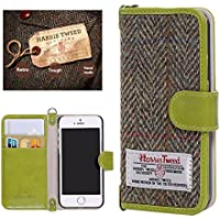 iPhone 6s Case, iPhone 6 Wallet Case, Harris Tweed Magnetic Folder Card Holders Money Pouch, Retro Leather Wallet Case Purse Protective Cover Stand Function Flip Folio Book Case for iPhone 6 / 6S for Women Girls (Green)