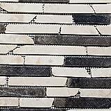 Mosaik Fliese Marmor Naturstein beige schwarz Brick BianconeJava für BODEN WAND BAD WC DUSCHE KÜCHE FLIESENSPIEGEL THEKENVERKLEIDUNG BADEWANNENVERKLEIDUNG Mosaikmatte Mosaikplatte
