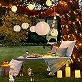3er Set Solar Lampions Solar Laterne weiß Lights4fun von Lights4fun