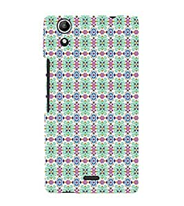 EPICCASE doted flowers Mobile Back Case Cover For Micromax Canvas Selfie Lens Q345 (Designer Case)