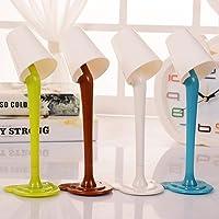 Dedeka Mini Lampada da Tavolo + Penna 2 in 1 Lampada da Tavolo Creativa Penna a Sfera Carino Studente Scuola cancelleria scrivania Decor Penna Liscia e Ben Scritto Colore Casuale Lampade da scrivania