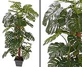Künstliche Monstera deliciosa, Fensterblatt Kletterpflanze, 60 Blätter, Höhe ca. 190cm - Kunstbaum - künstlicher Baum