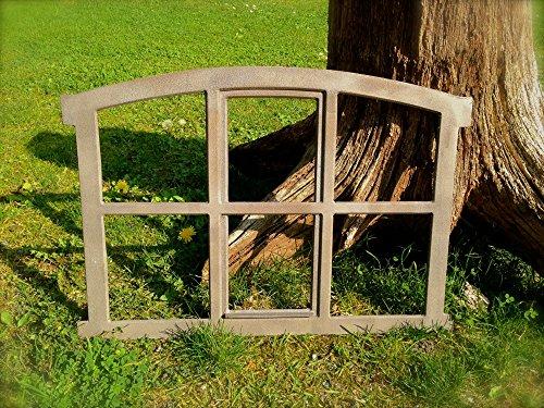 Antikas - Eisenfenster für Gartenmauer, Stallfenster, Fenster für antike Mauer-Poka-ca. 57x42