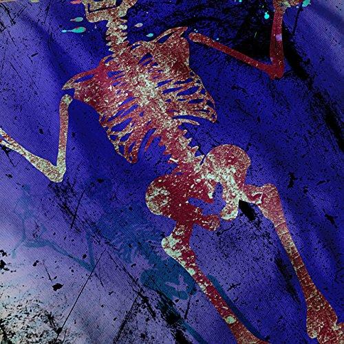 Mensch Skelett Cool Schädel Böse Krieger Damen S-2XL Muskelshirt | Wellcoda Schwarz