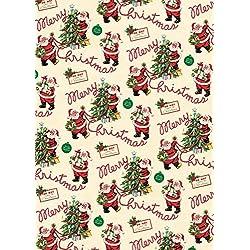 Cavallini Papers & Co–Papel de regalo, diseño de Papá Noel